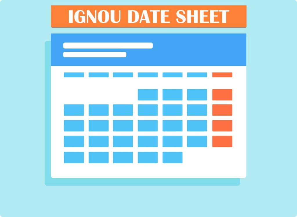 IGNOU Exam Date Sheet